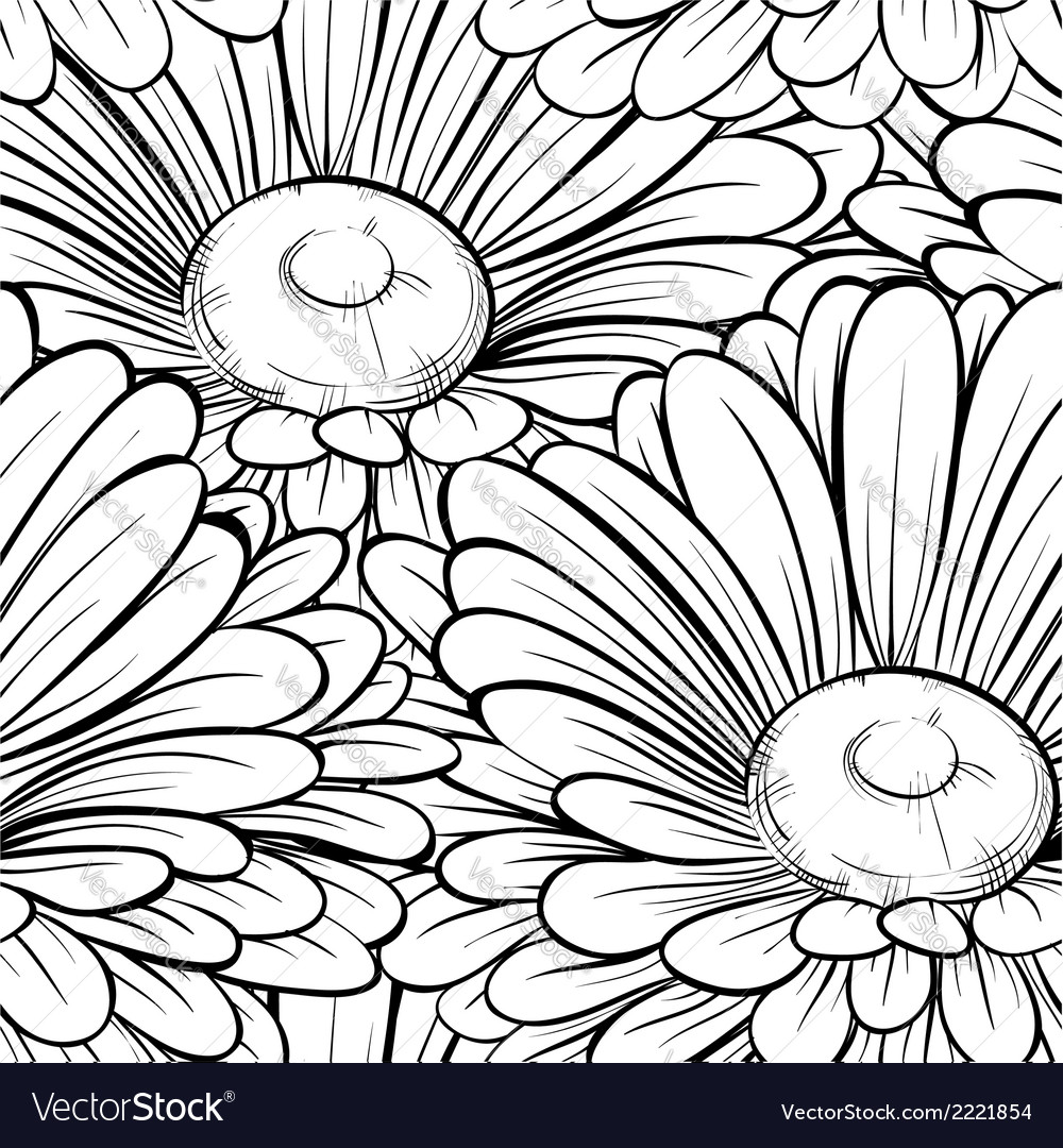 Seamless background with monochrome black and whit vector | Price: 1 Credit (USD $1)