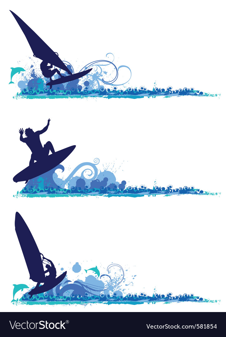 Surfing design elements vector | Price: 1 Credit (USD $1)