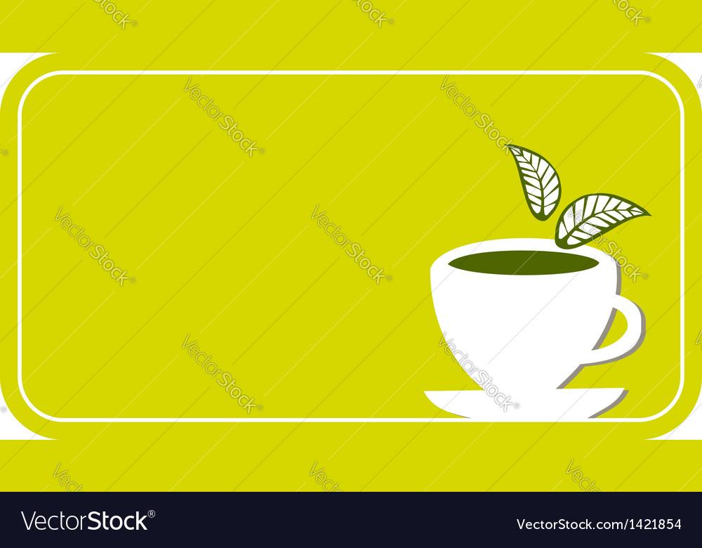 Tea cup label vector | Price: 1 Credit (USD $1)