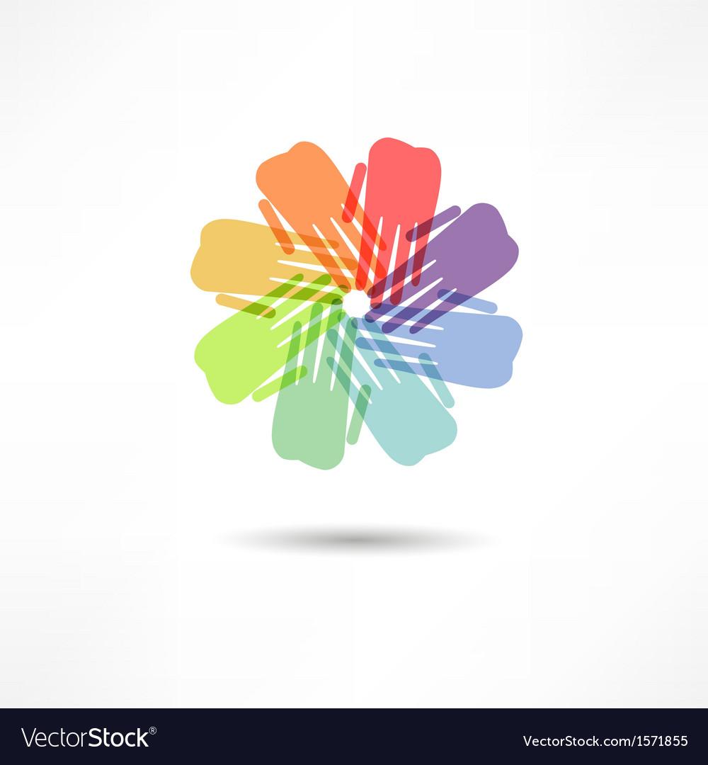 Business icon handshake transaction vector | Price: 1 Credit (USD $1)