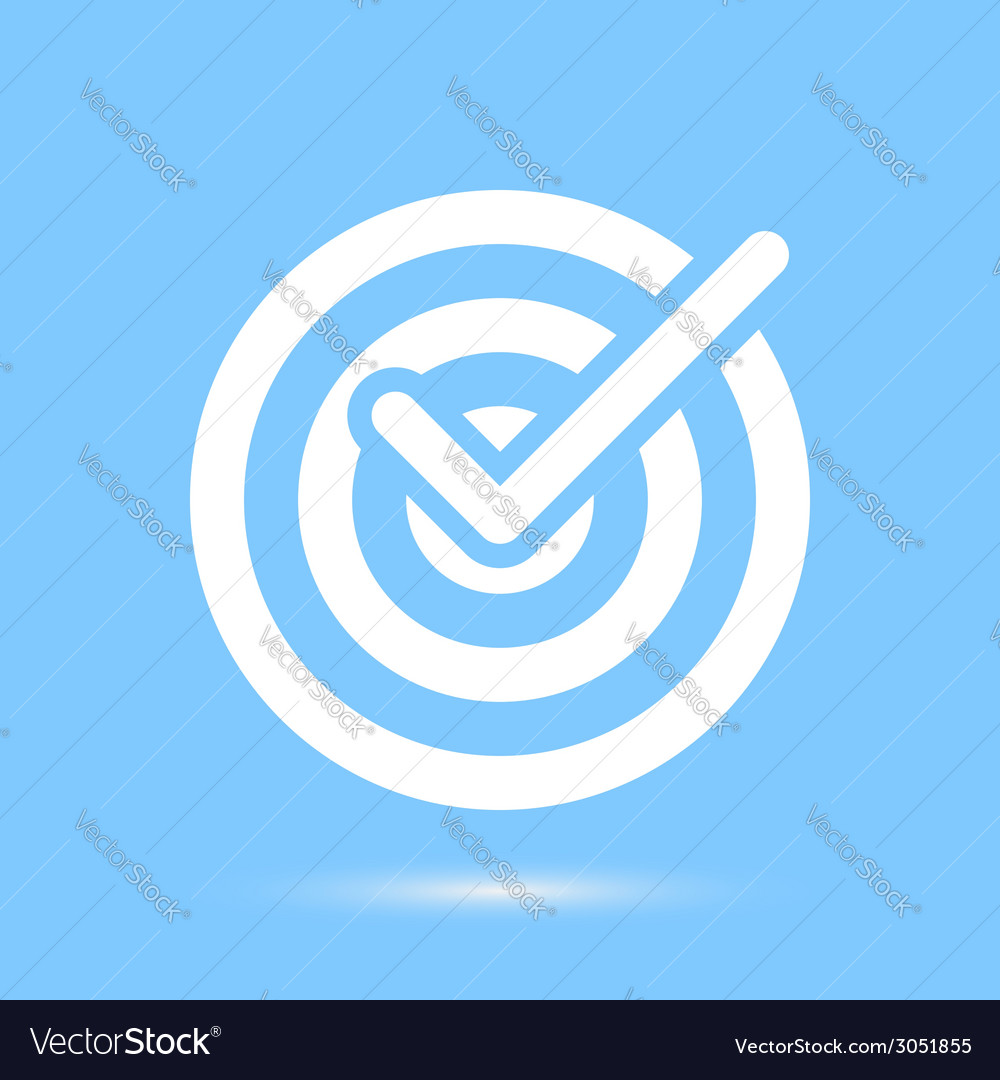 Checkmark white symbol over blue background vector | Price: 1 Credit (USD $1)