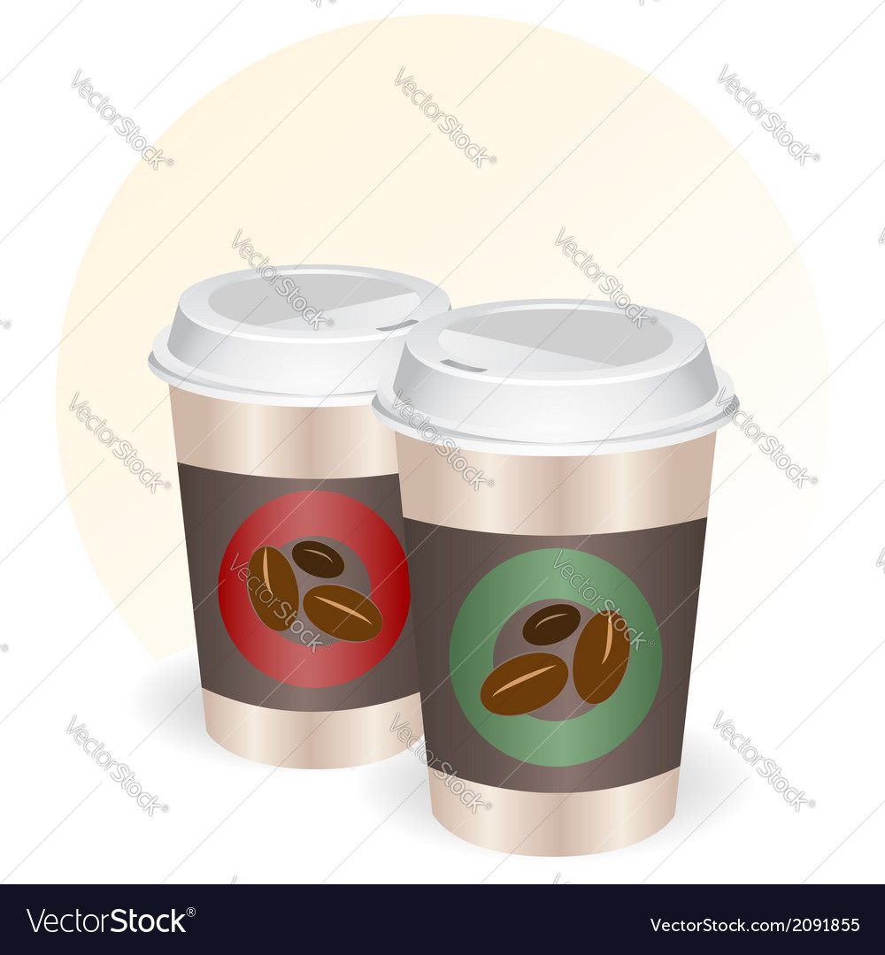 Coffee cups to go vector | Price: 1 Credit (USD $1)