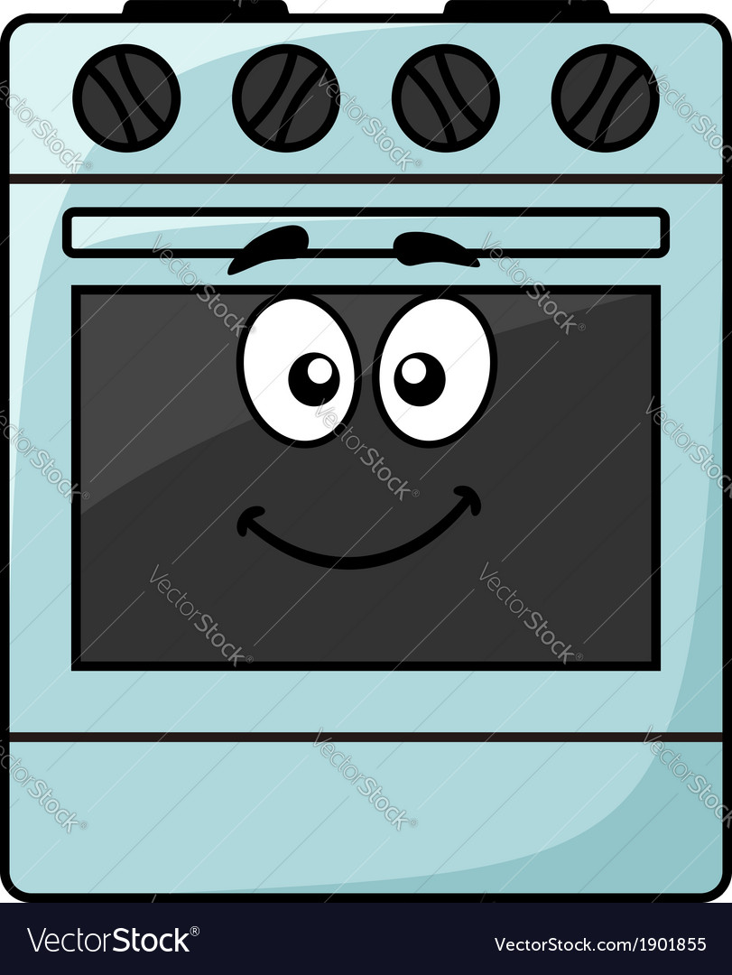 Fun kitchen appliance - a happy oven vector | Price: 1 Credit (USD $1)
