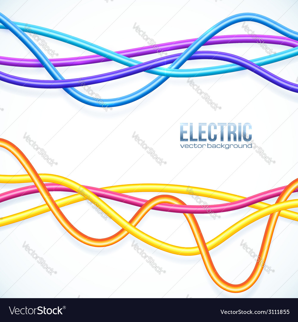 Hanging colored cables background vector | Price: 1 Credit (USD $1)