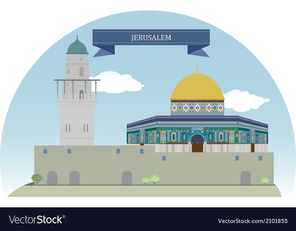 Jerusalem vector | Price: 1 Credit (USD $1)