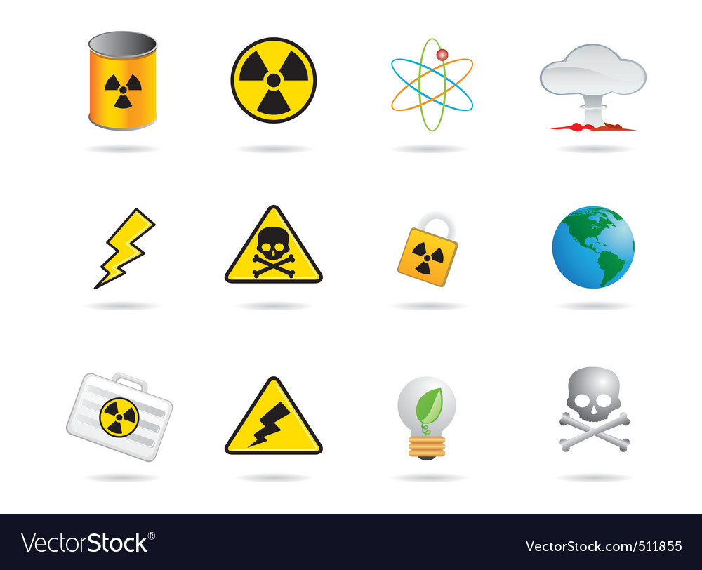 Nuclear energy icon vector | Price: 1 Credit (USD $1)
