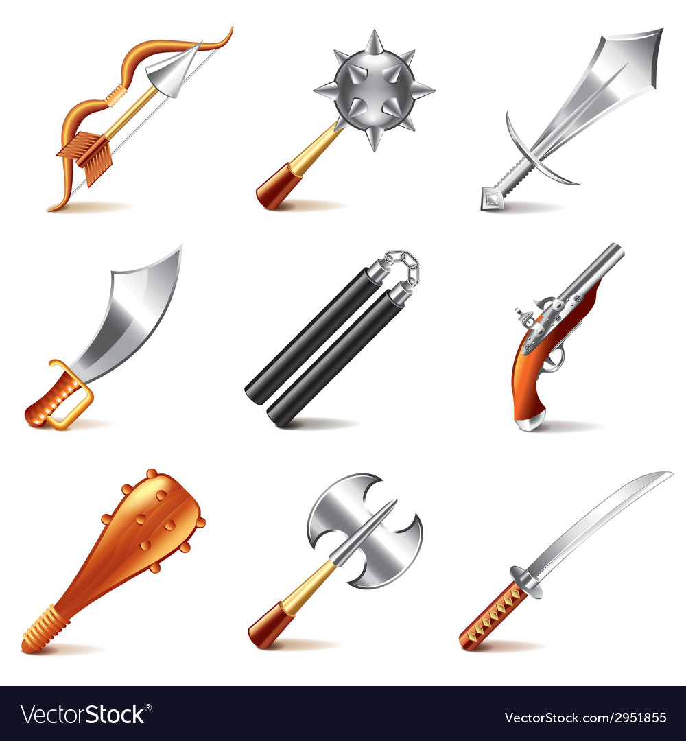 Old weapons for game vector | Price: 3 Credit (USD $3)