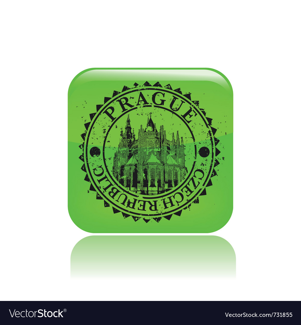 Prague stamp grunge vector | Price: 1 Credit (USD $1)