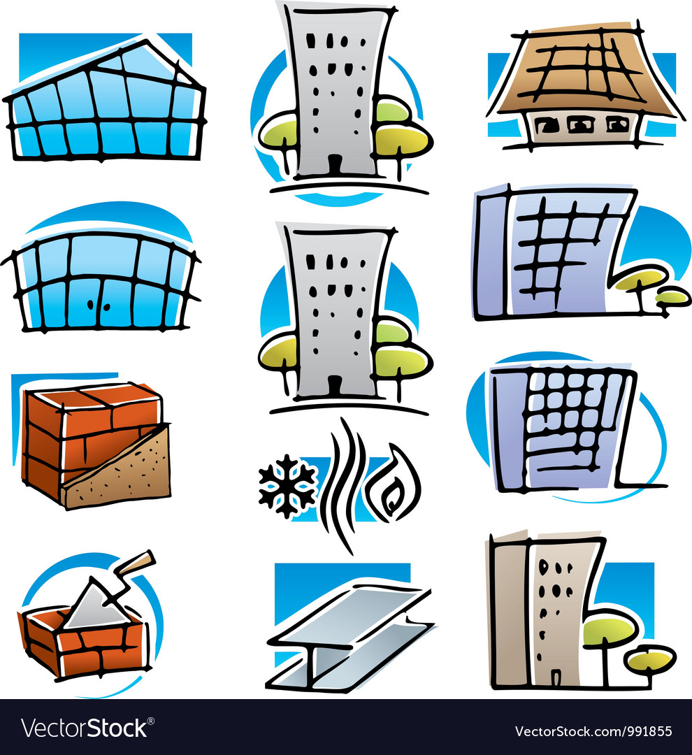Real estate and construction icons vector | Price: 1 Credit (USD $1)