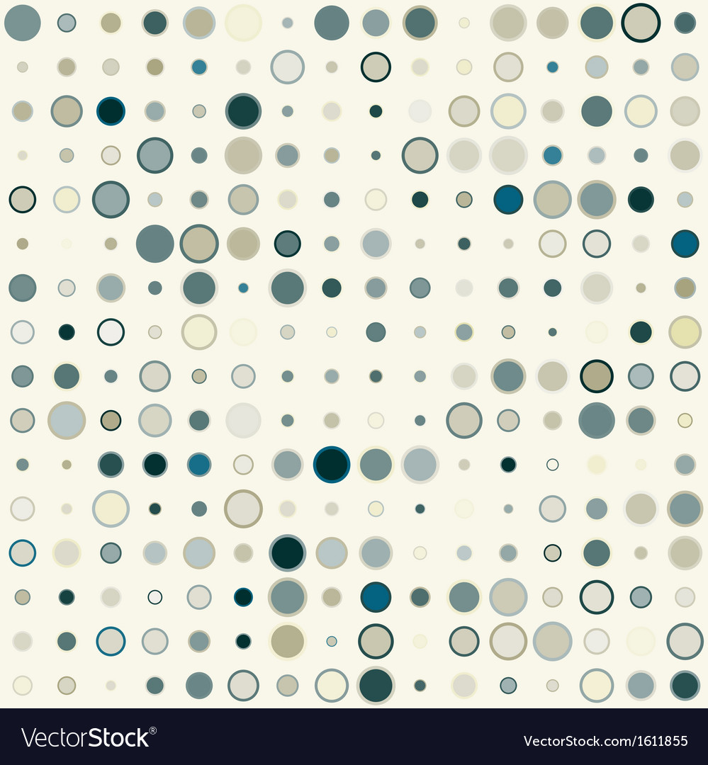 Seamless geometric pattern of the color circles vector | Price: 1 Credit (USD $1)