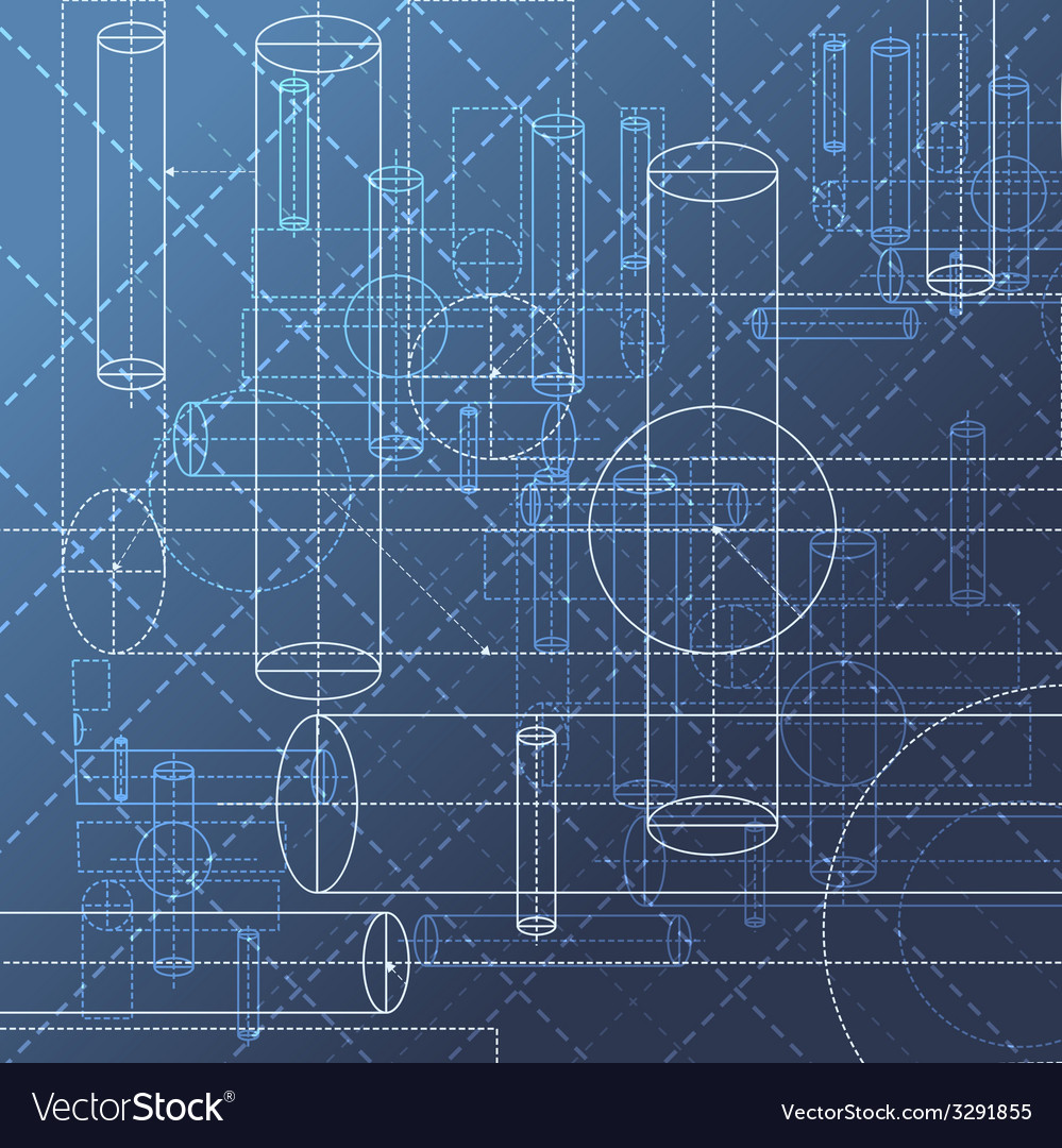 Technical drawing abstract background vector | Price: 1 Credit (USD $1)