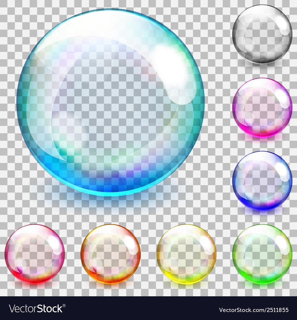 Transparent glass spheres vector | Price: 1 Credit (USD $1)