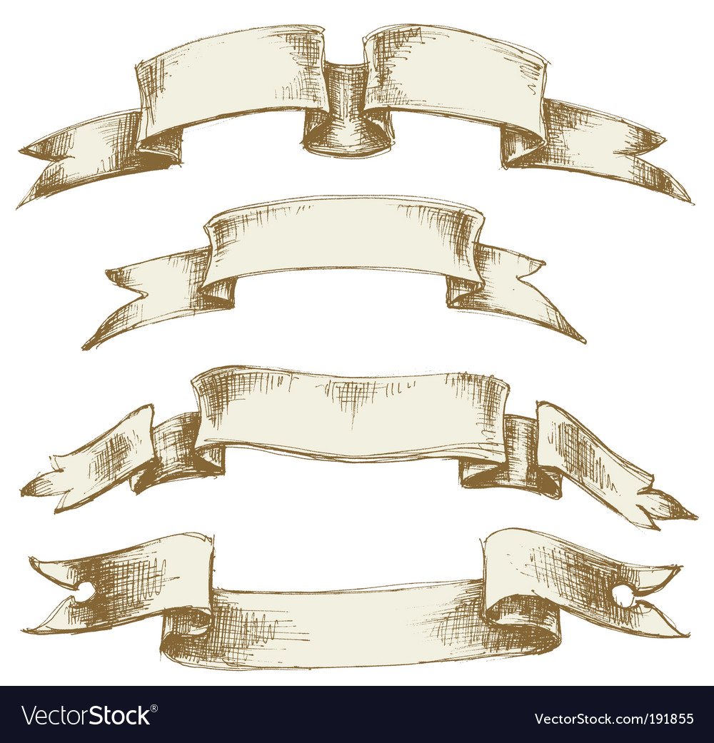 Vintage scrolls set vector | Price: 1 Credit (USD $1)