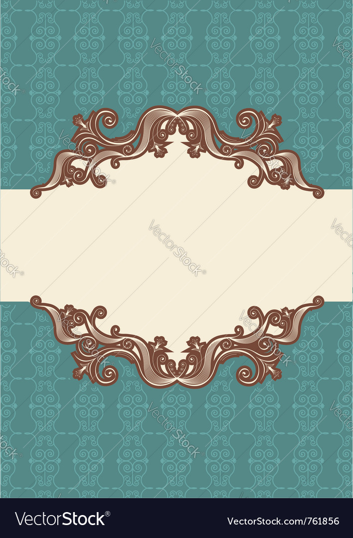 Abstract vintage frame vector | Price: 1 Credit (USD $1)