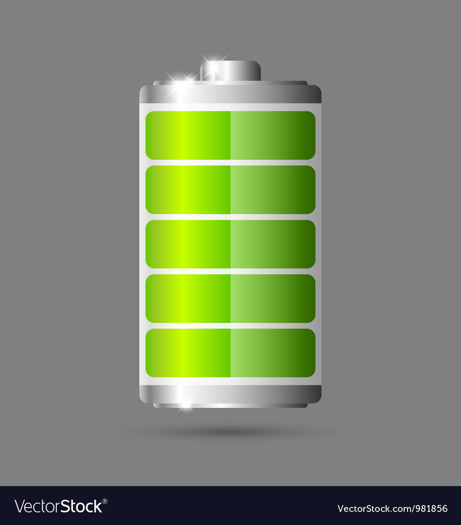 Battery icon vector | Price: 3 Credit (USD $3)