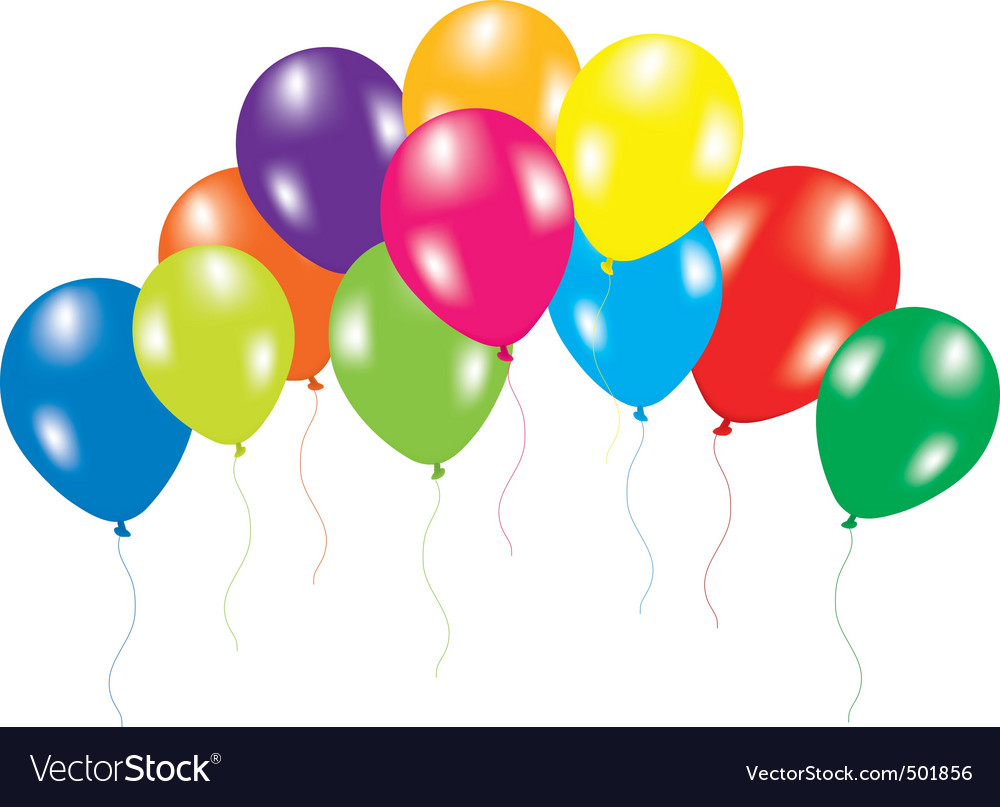 Colorful balloons on white background vector   Price: 1 Credit (USD $1)