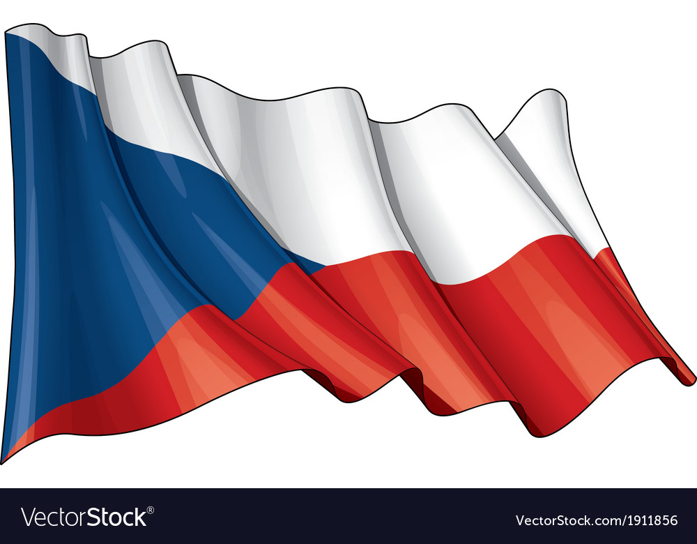 Czech republic flag vector | Price: 1 Credit (USD $1)