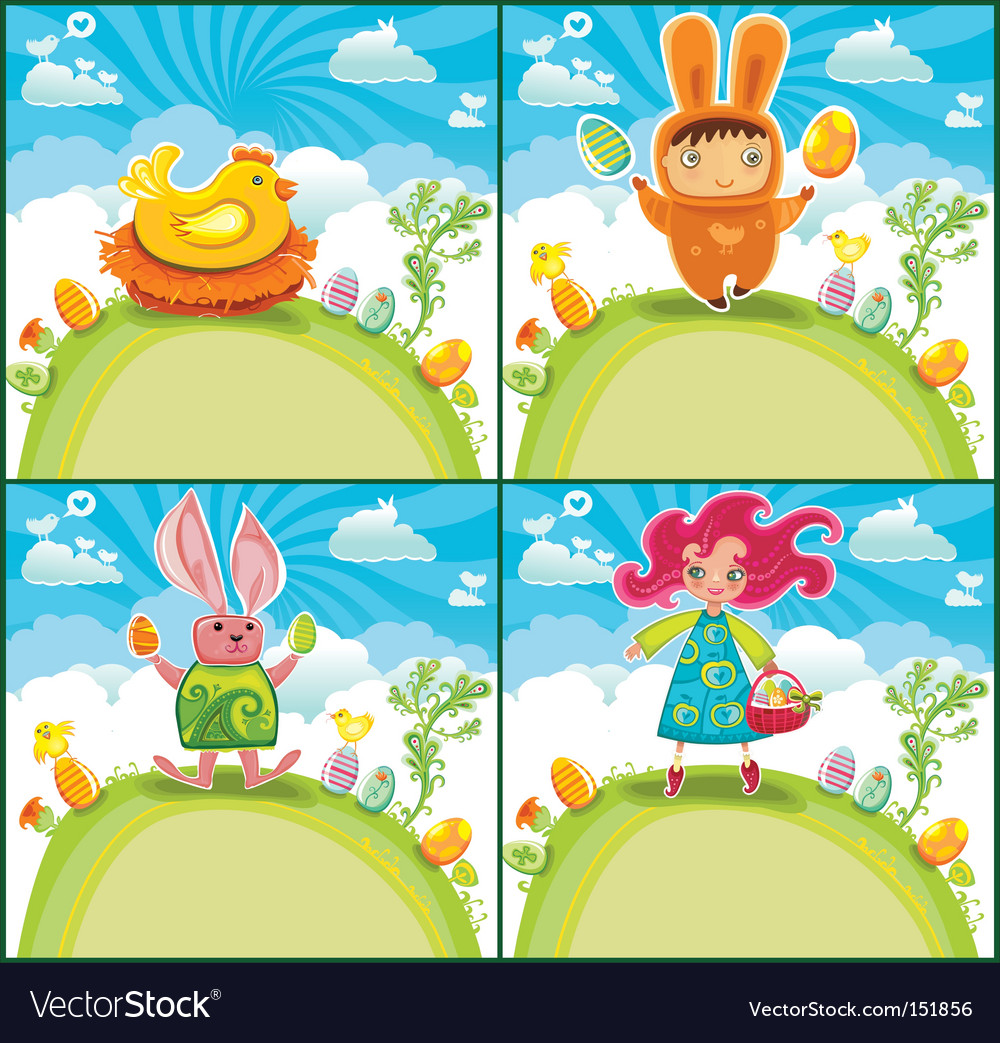 Easter greeting cards vector | Price: 3 Credit (USD $3)