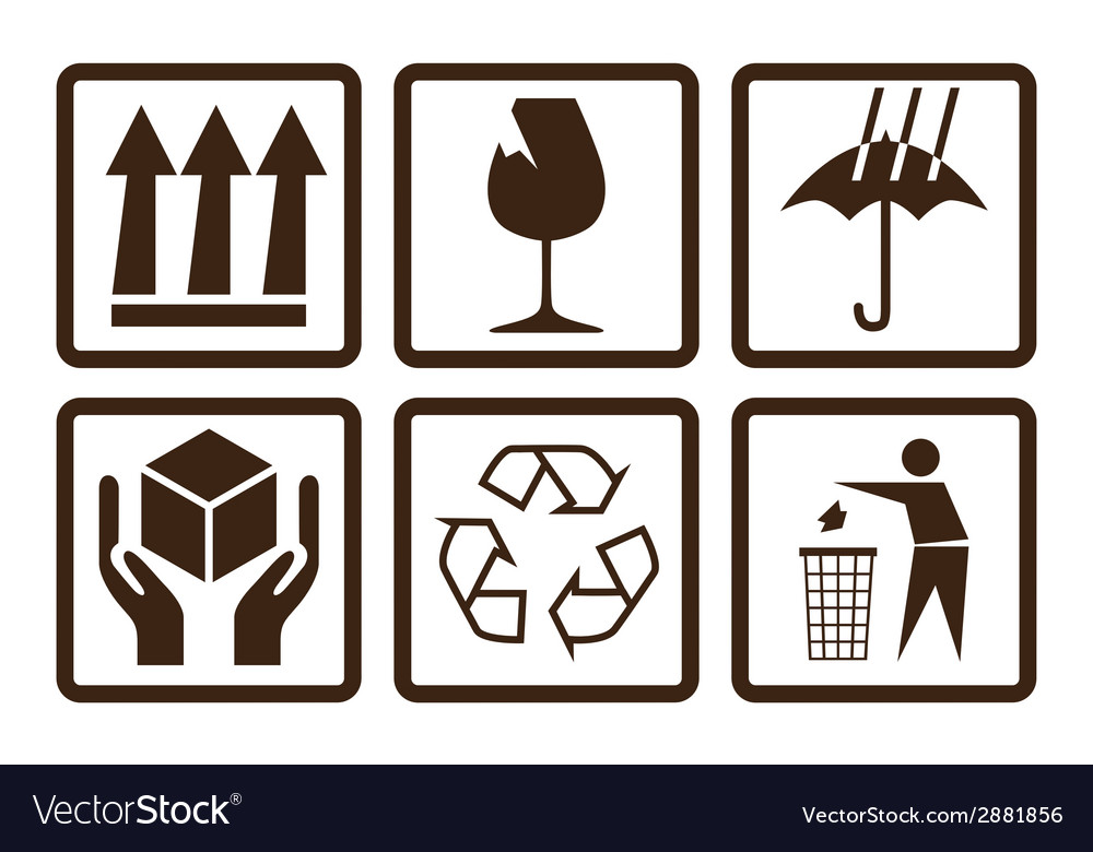 Fragtile symbols vector | Price: 1 Credit (USD $1)