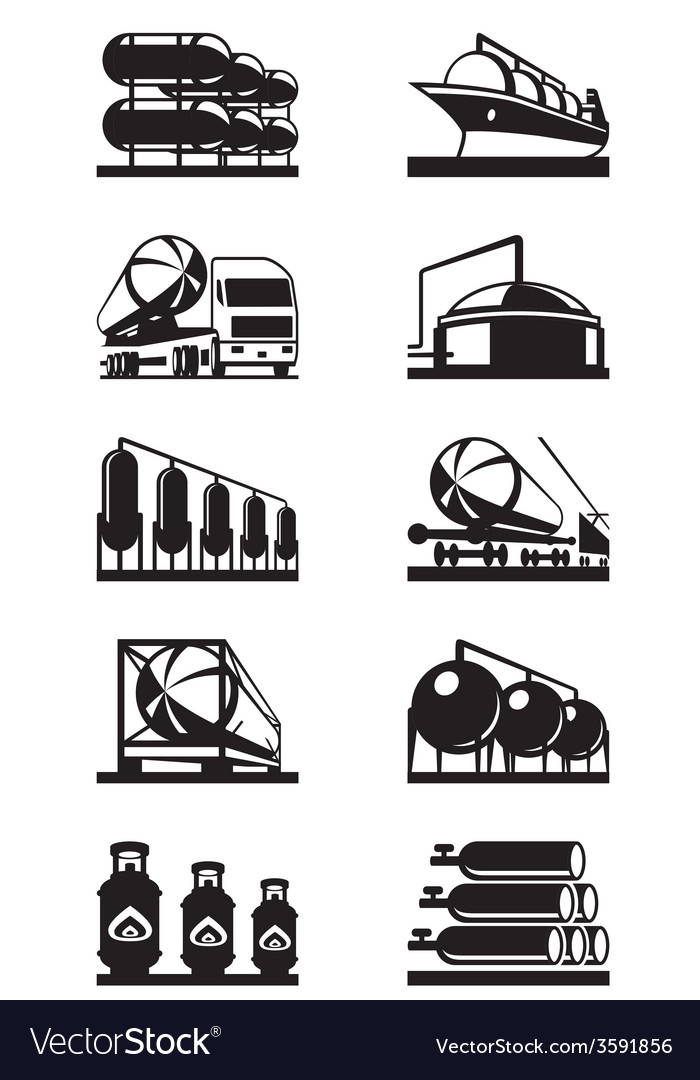 Gas tank terminals vector