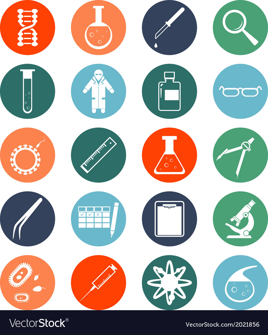 Genetic icons vector | Price: 1 Credit (USD $1)