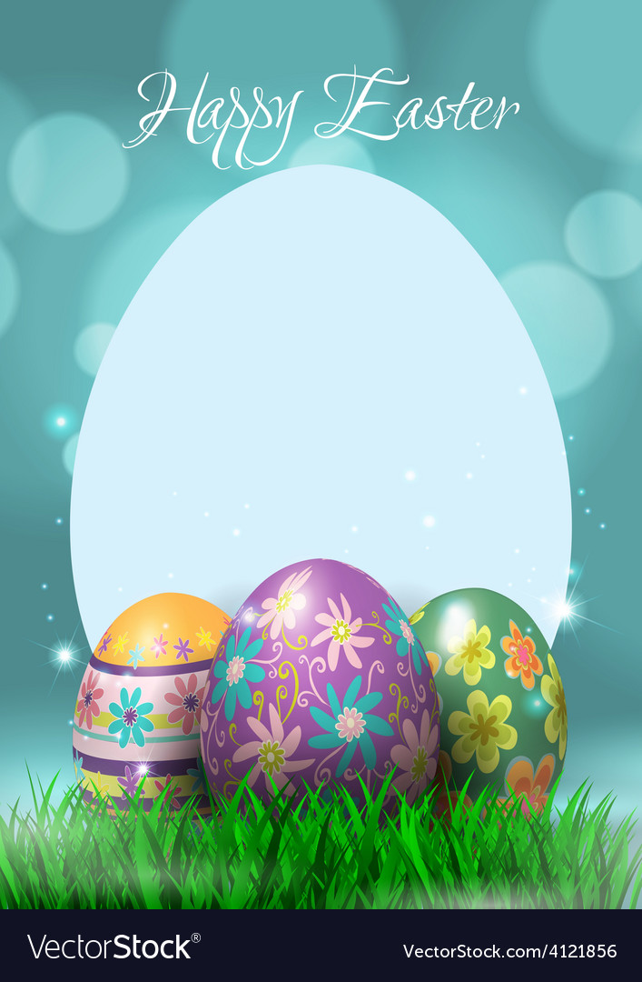 Happy easter greeting card vector   Price: 3 Credit (USD $3)