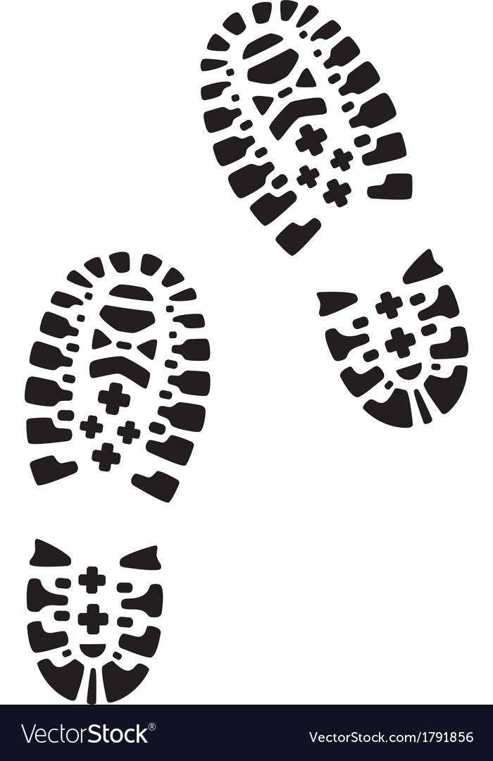 Hiking footprints vector | Price: 1 Credit (USD $1)
