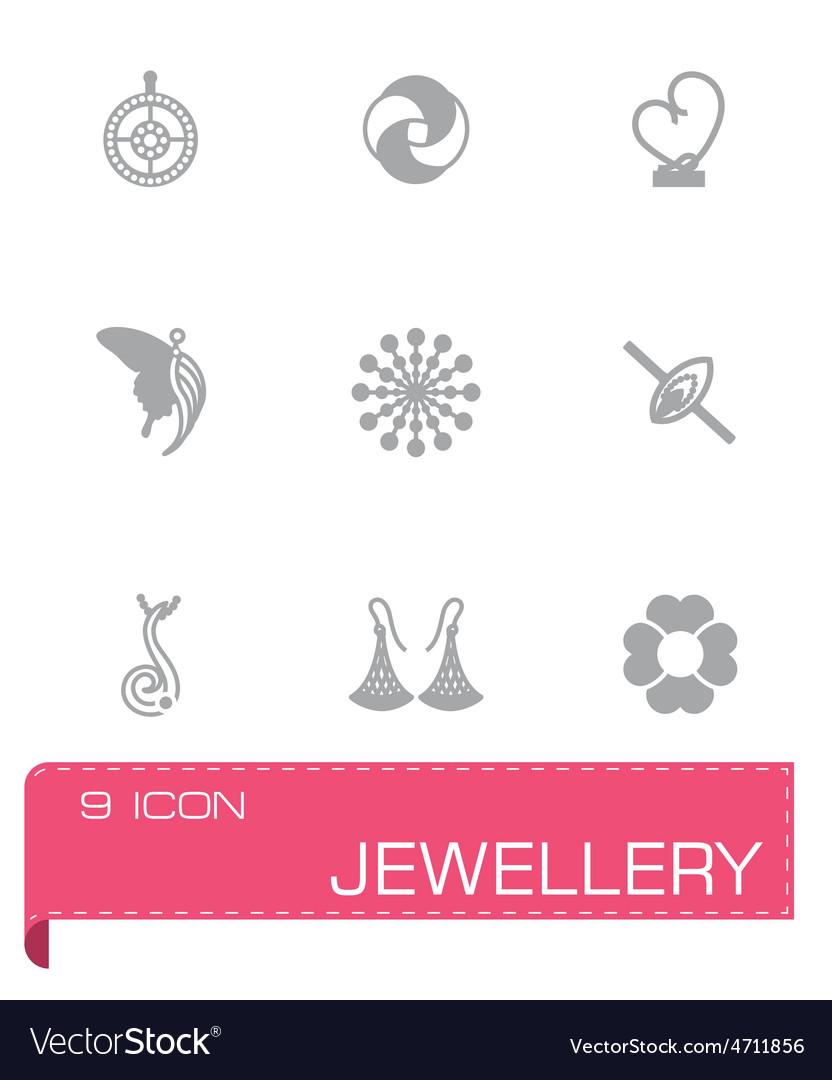 Jewellery icon set vector | Price: 1 Credit (USD $1)