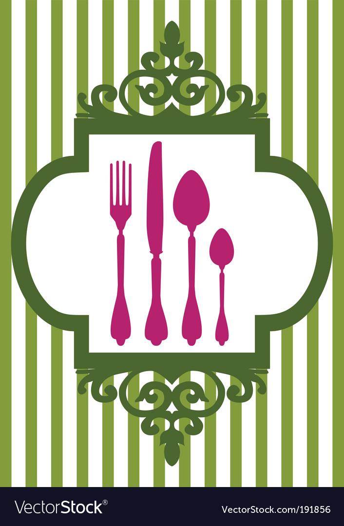 Restaurant card vector | Price: 1 Credit (USD $1)