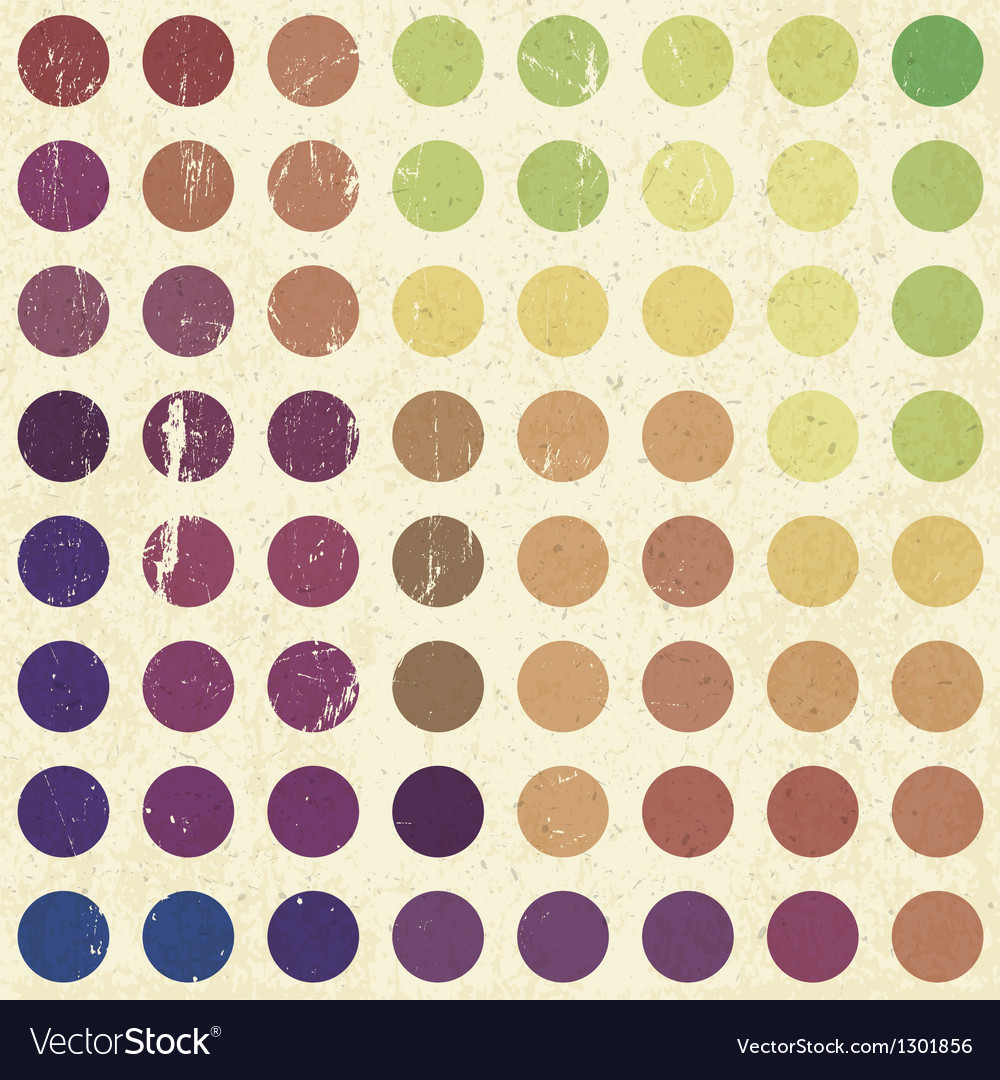 Retro colorful circles background vector | Price: 1 Credit (USD $1)