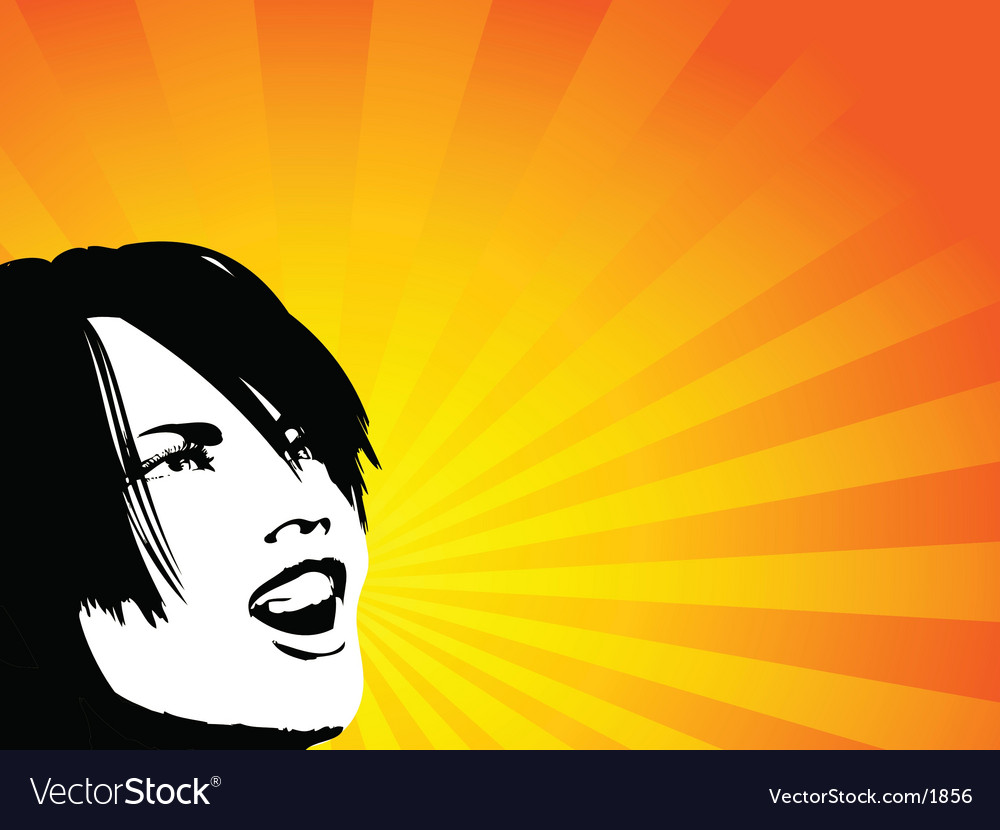 Shouting female vector   Price: 1 Credit (USD $1)