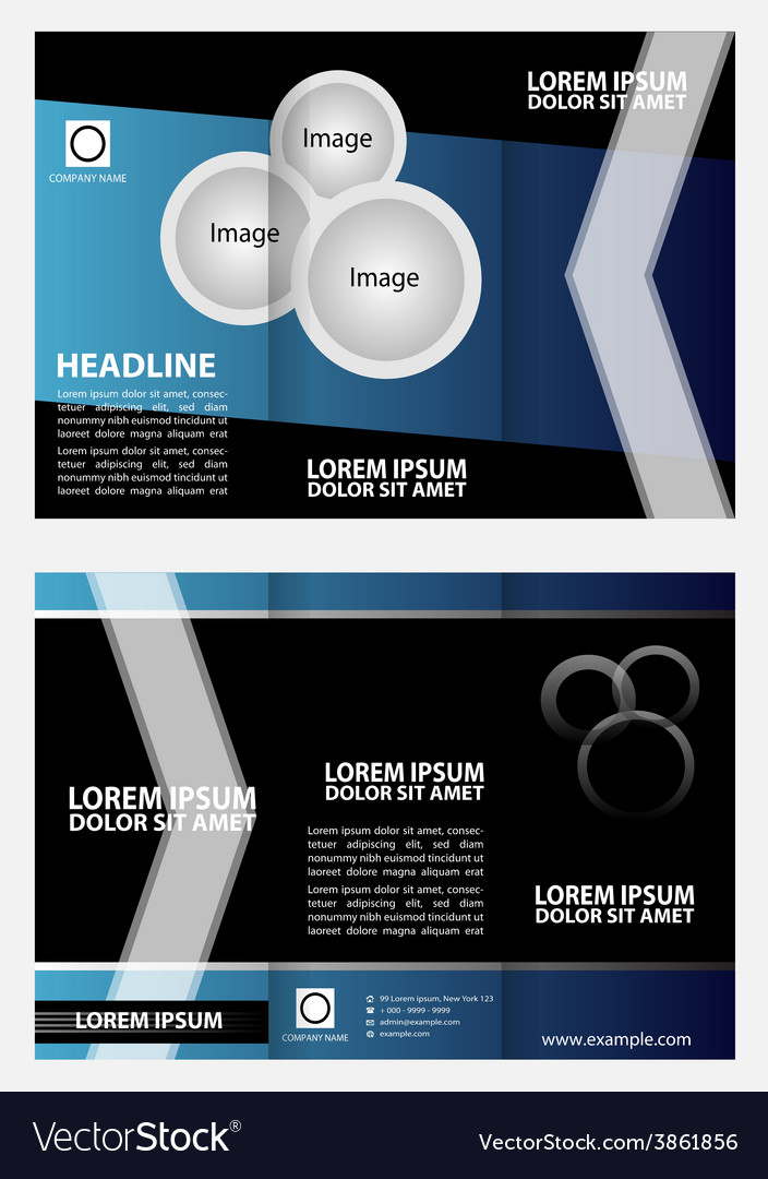 Tri-fold brochure layout design template vector | Price: 1 Credit (USD $1)