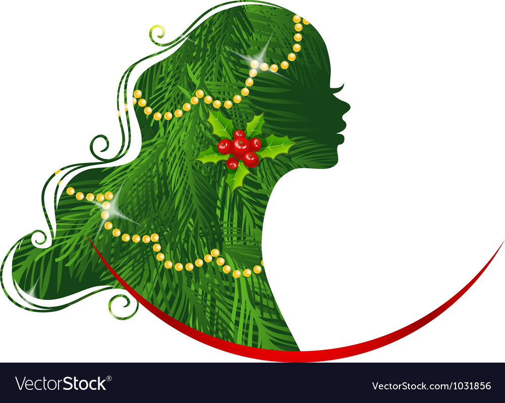 Xmas woman vector | Price: 3 Credit (USD $3)