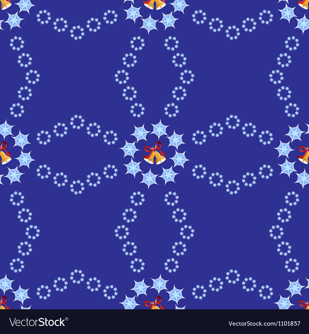 Christmas background with bells and snowflakes vector | Price: 1 Credit (USD $1)