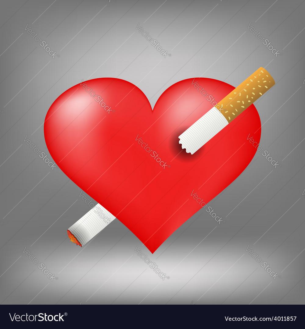 Cigarette and heart vector   Price: 1 Credit (USD $1)