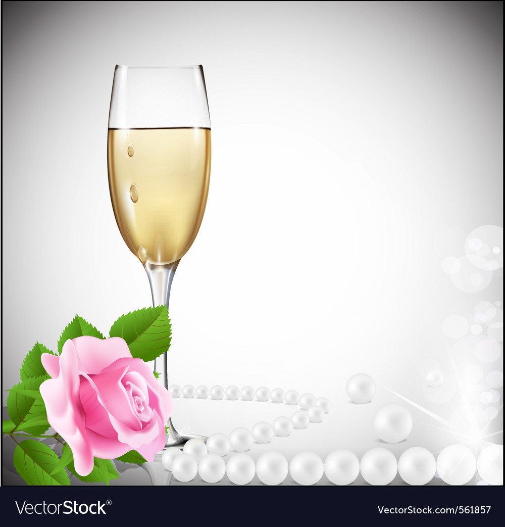 Congratulatory champagne background vector | Price: 1 Credit (USD $1)
