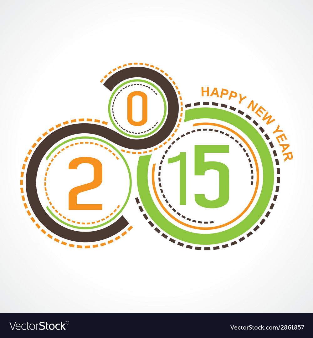 Creative happy new year 2015 design stock vector | Price: 1 Credit (USD $1)