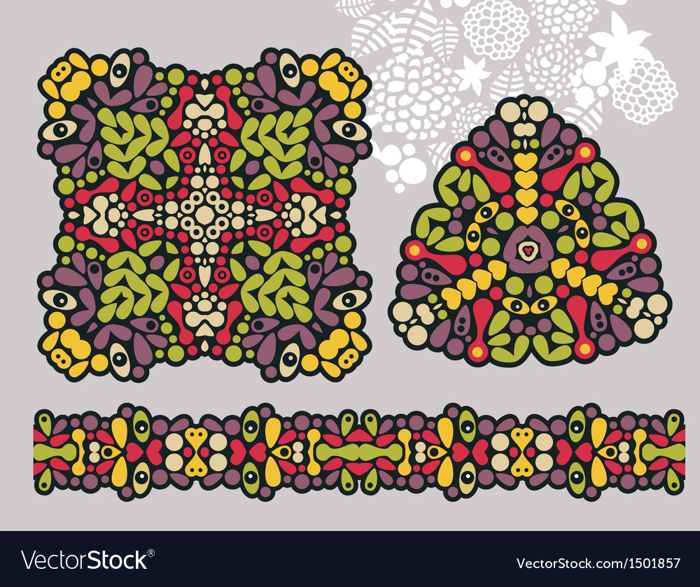 Decoration shapes and psychedelic ornament vector | Price: 1 Credit (USD $1)