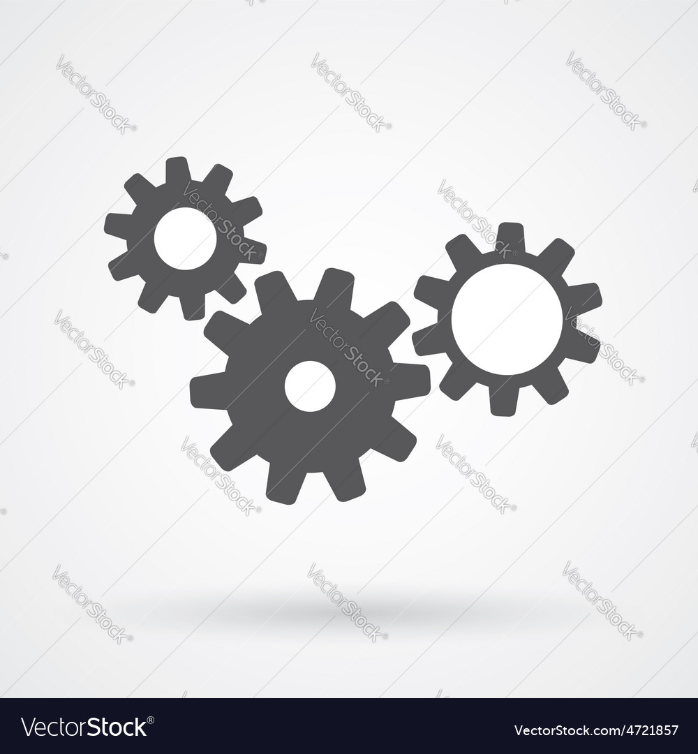 Gears icon vector | Price: 1 Credit (USD $1)