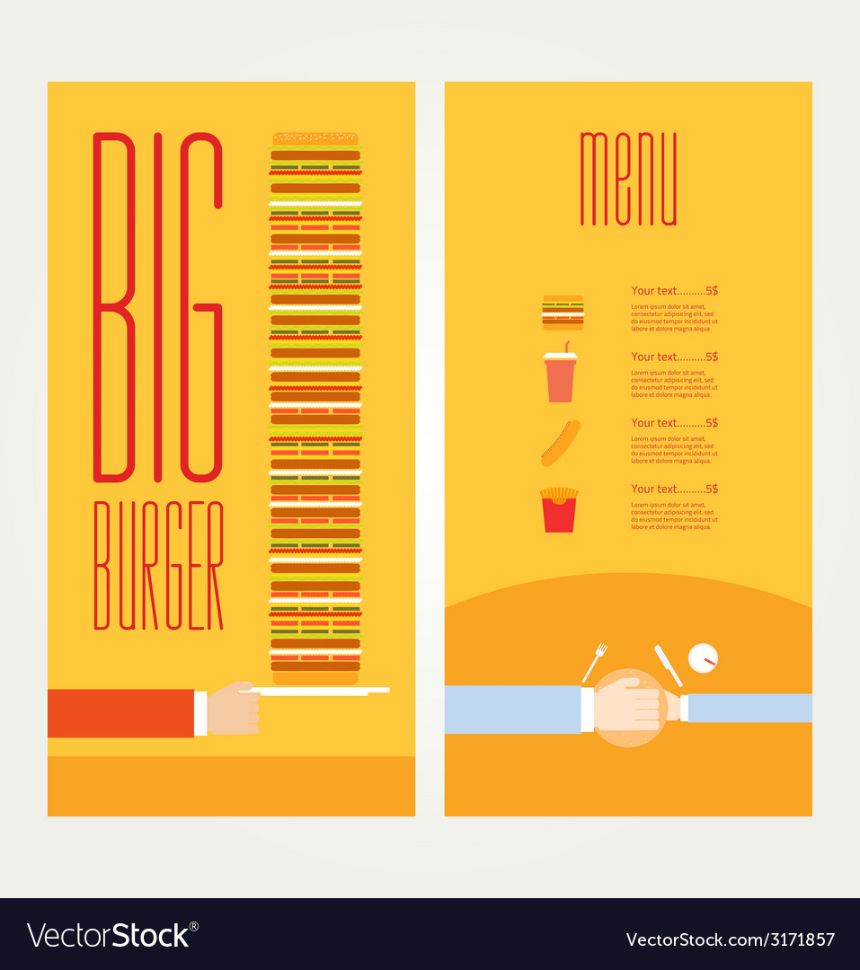 Hand drawn of burger and ingredients vector | Price: 1 Credit (USD $1)