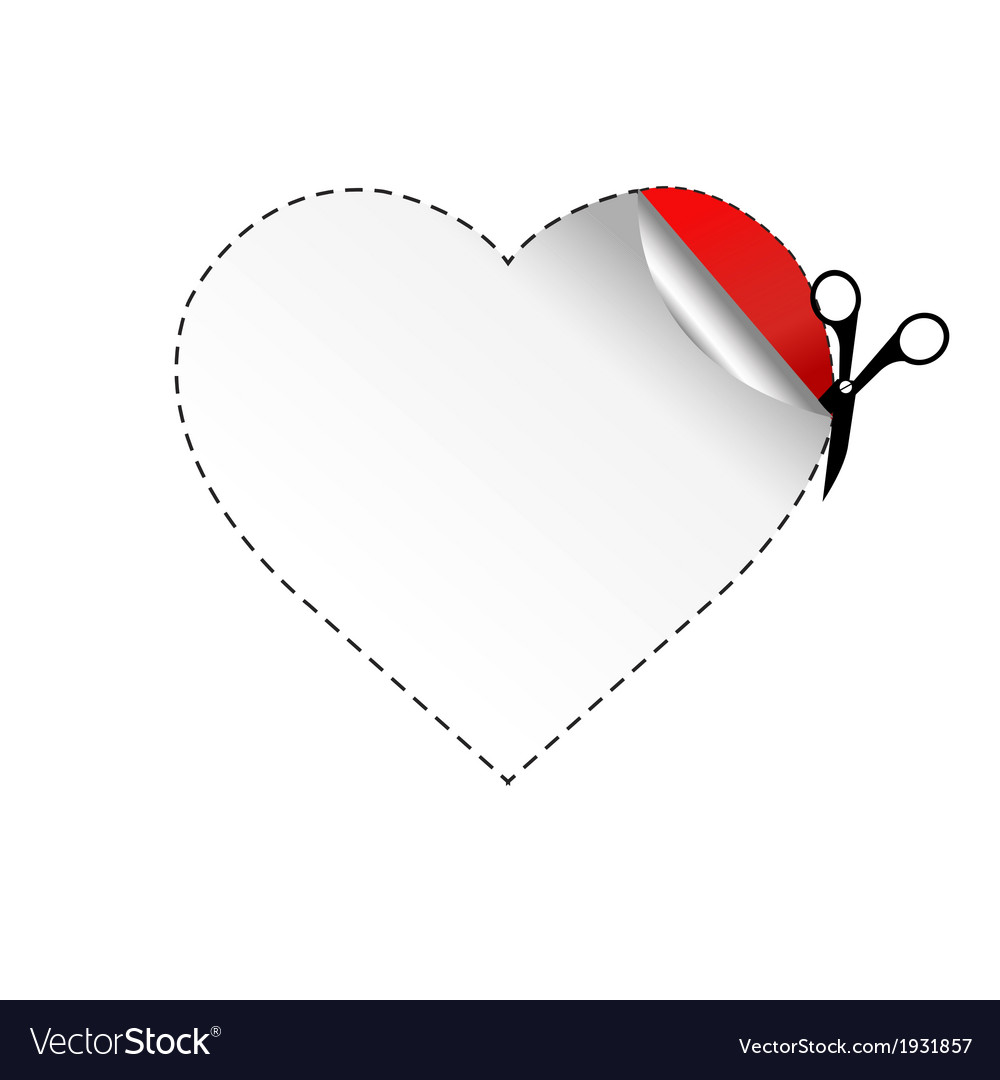 Heart and scissors vector | Price: 1 Credit (USD $1)
