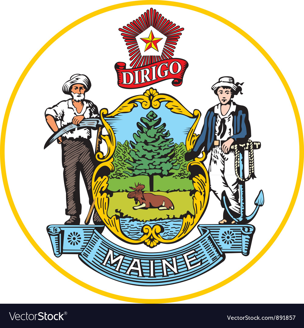 Maine seal vector | Price: 1 Credit (USD $1)
