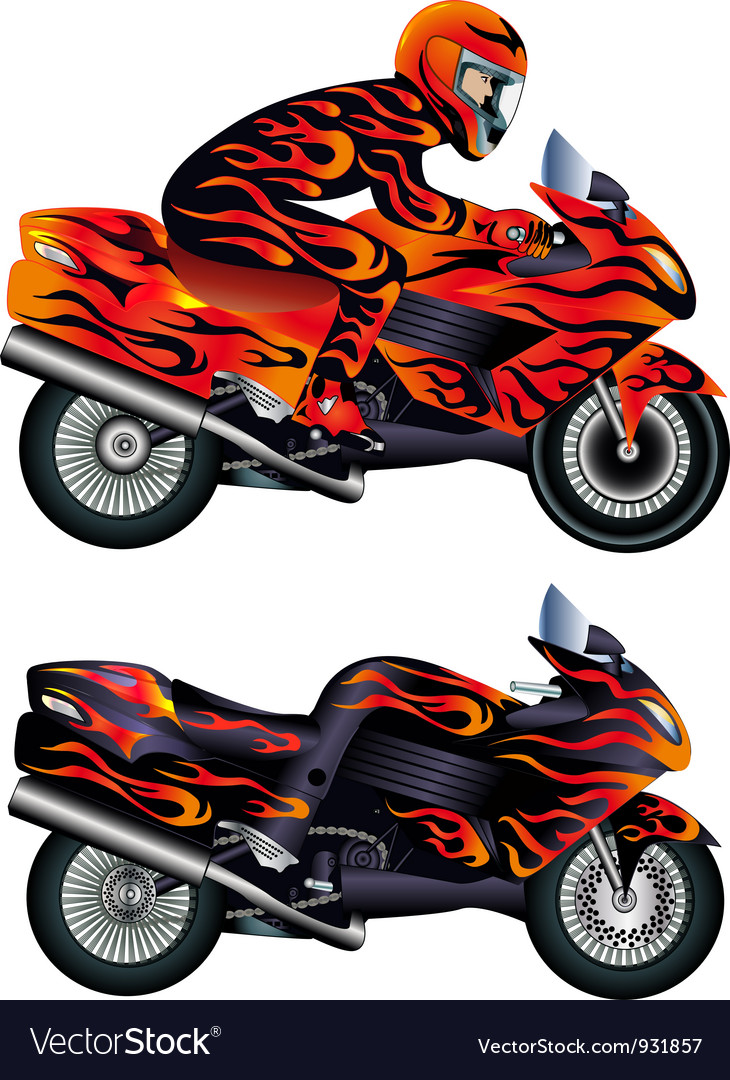 Motorcycle rider vector | Price: 1 Credit (USD $1)