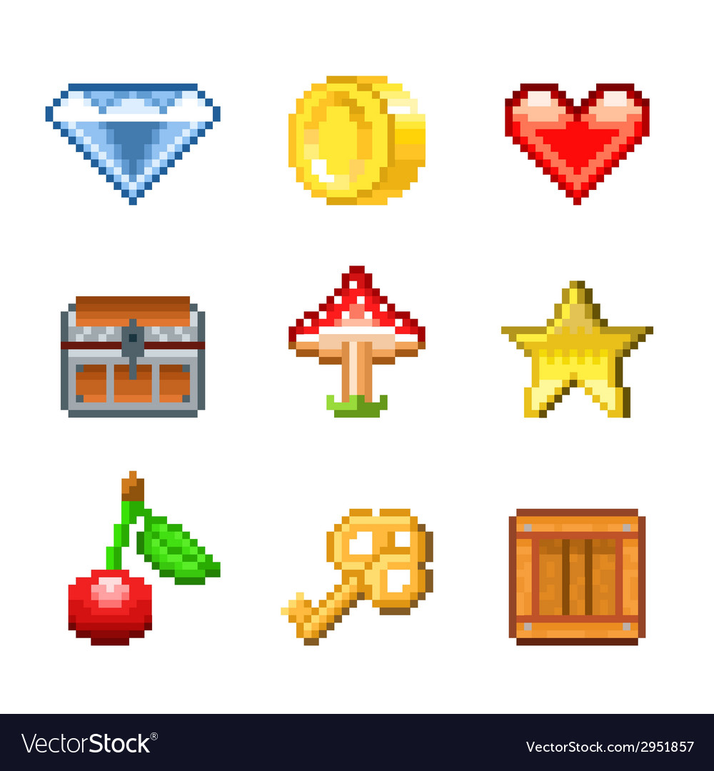 Pixel objects for game vector | Price: 3 Credit (USD $3)