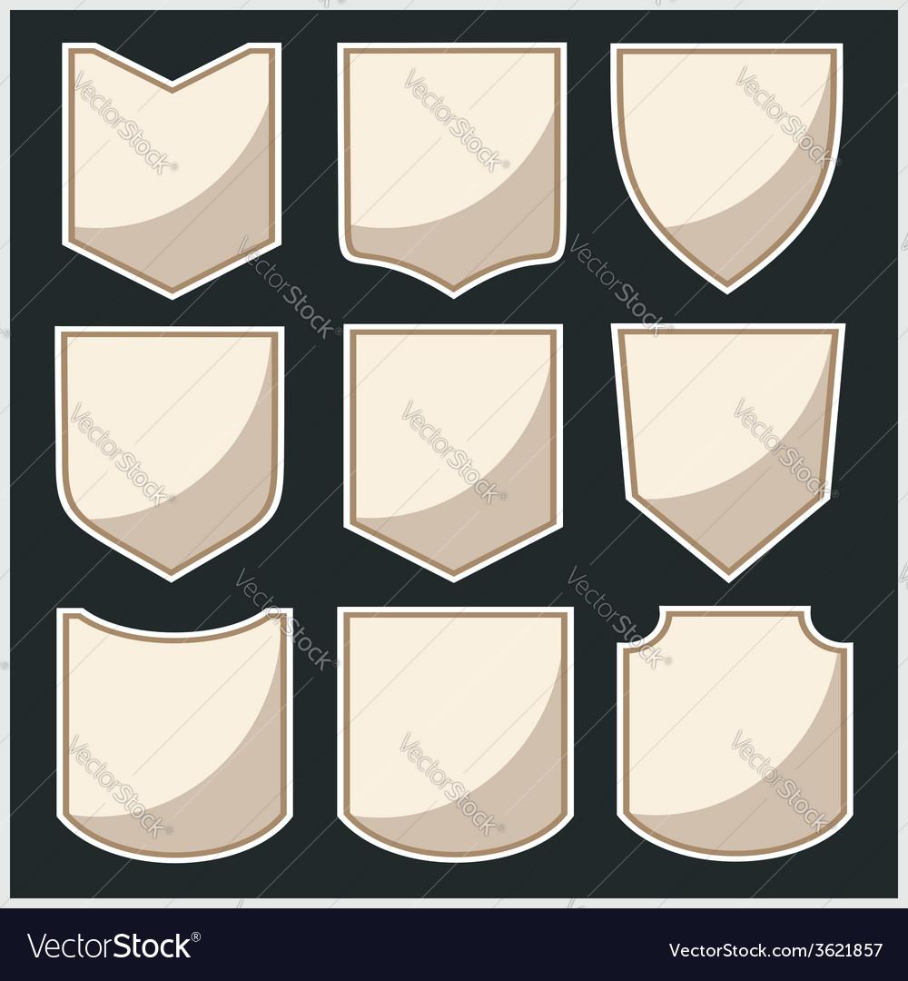 Shields - set vector | Price: 1 Credit (USD $1)