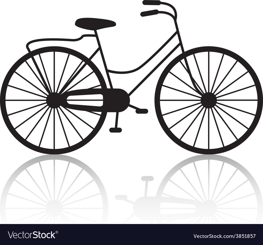 Vintage retro bicycle silhouette icon vector | Price: 1 Credit (USD $1)