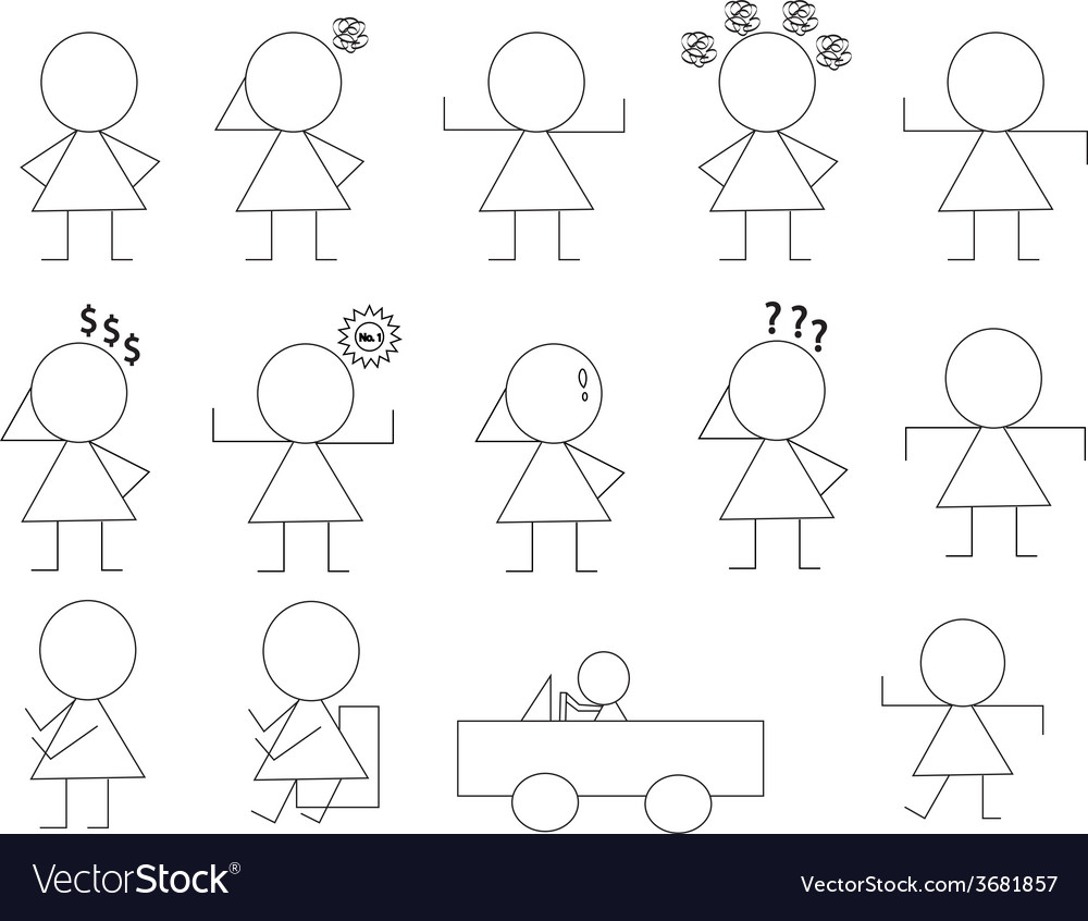 Woman manner sign1 01 vector | Price: 1 Credit (USD $1)