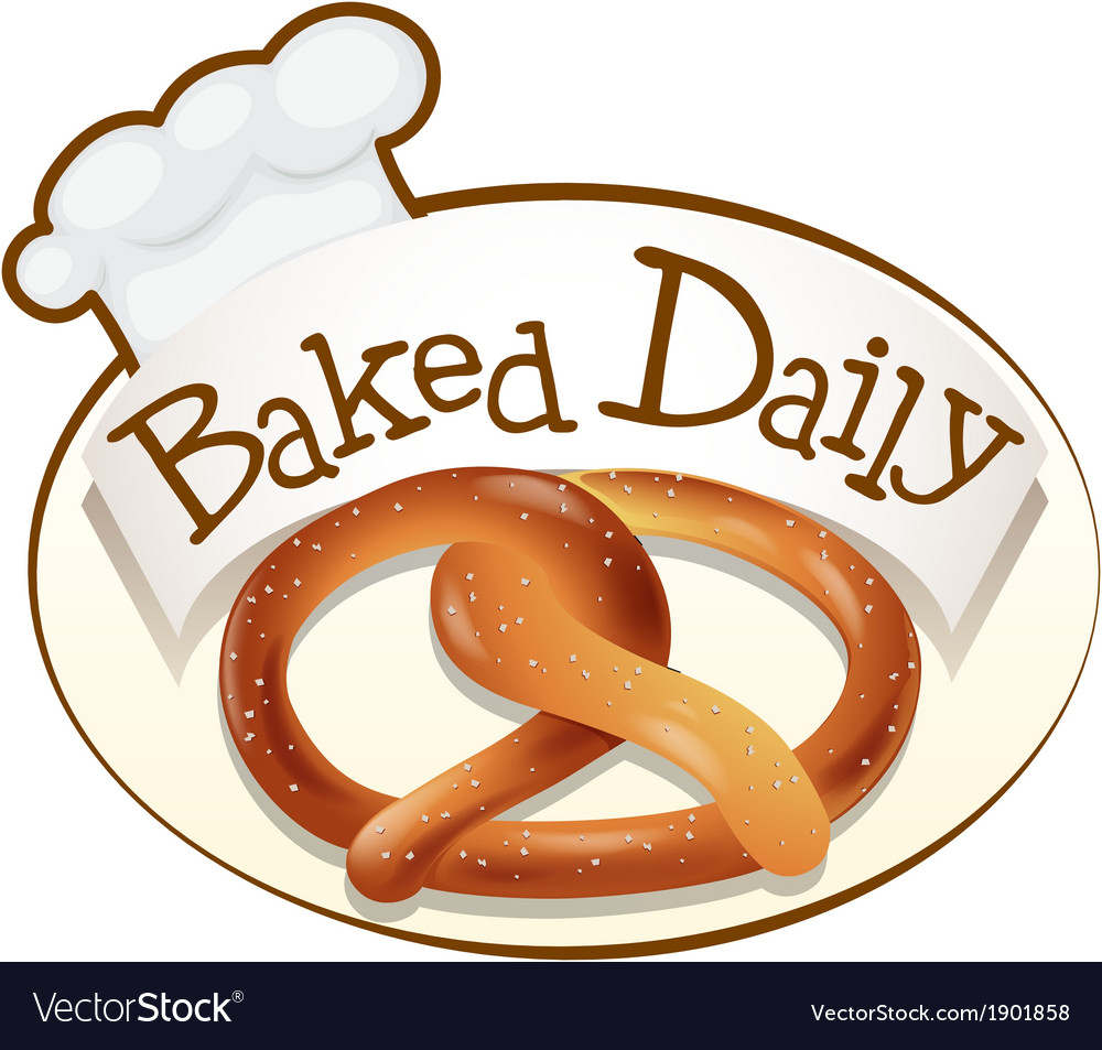 A baked daily label with a twisted bread vector | Price: 1 Credit (USD $1)