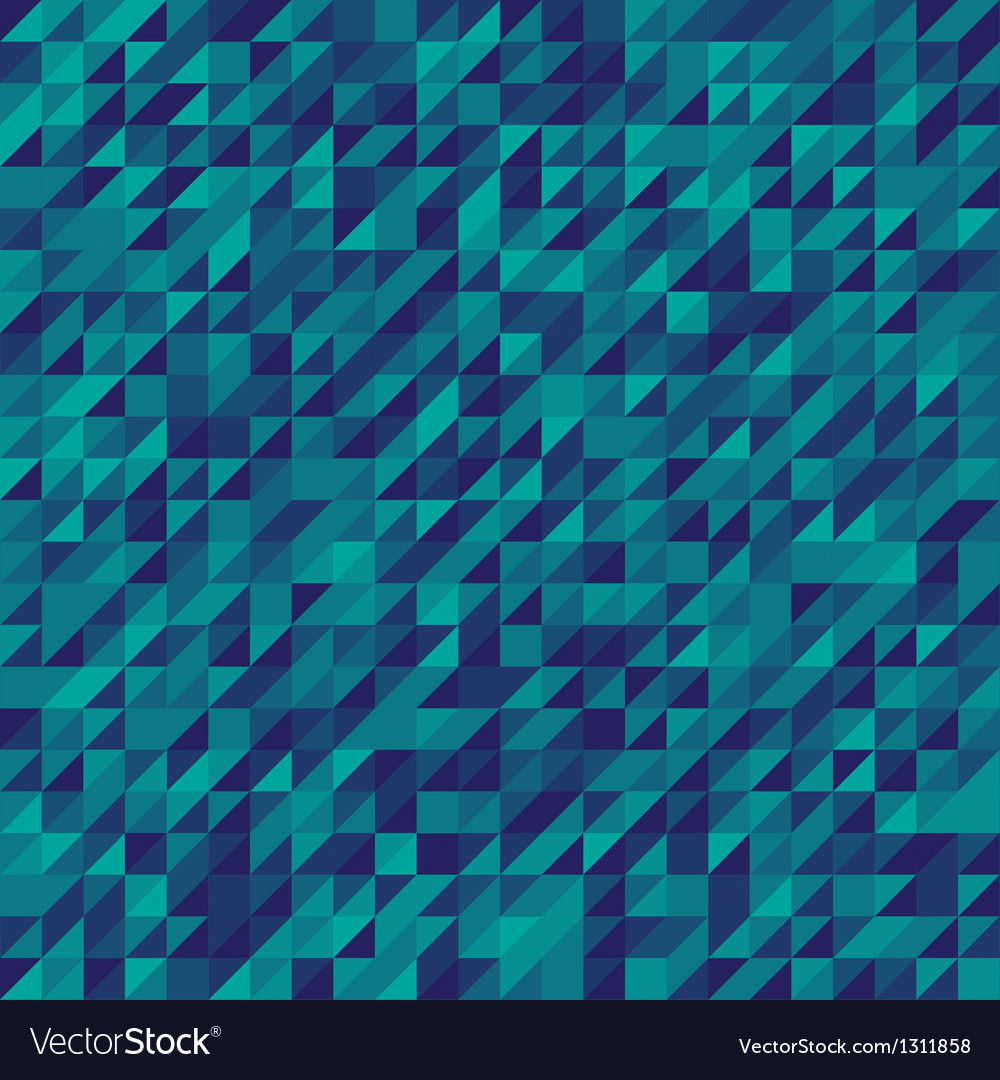 Blue abstract triangles mosaic background vector | Price: 1 Credit (USD $1)