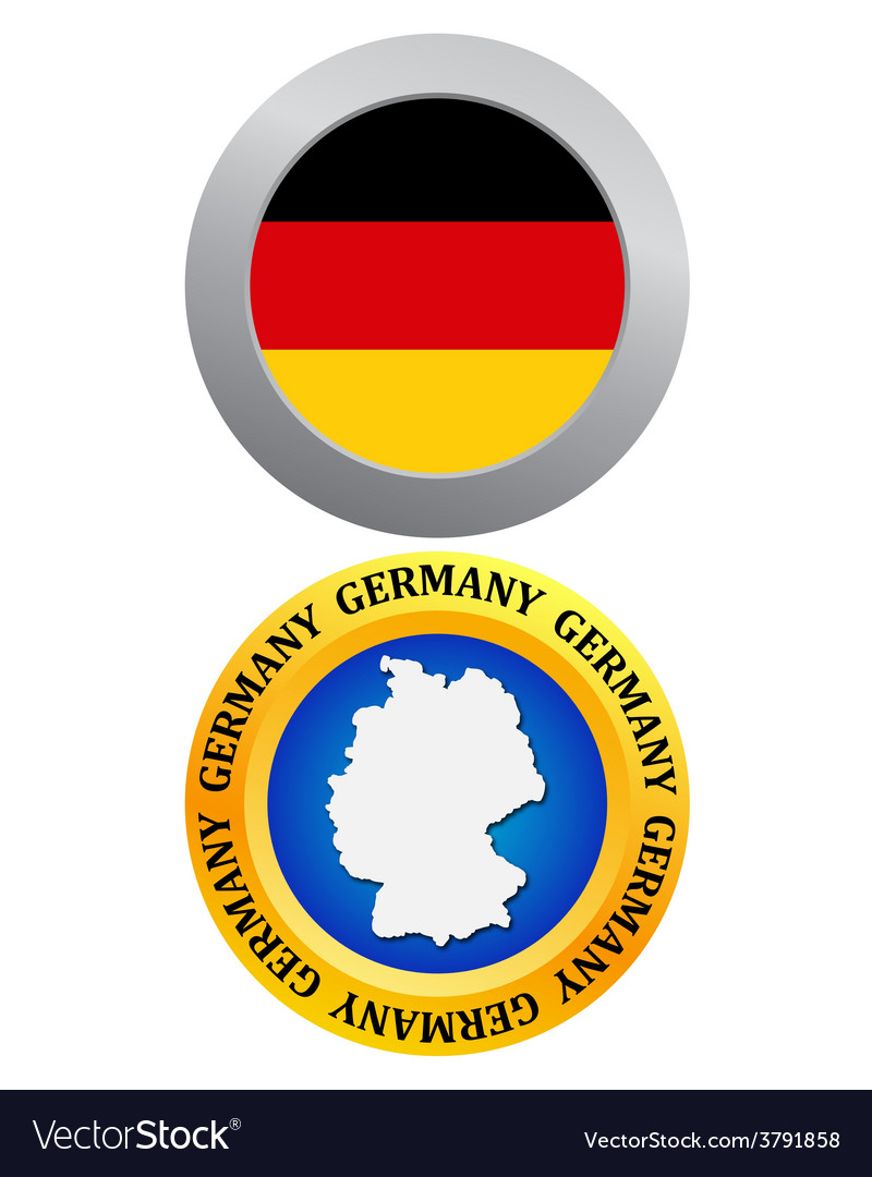 Button as a symbol germany vector | Price: 1 Credit (USD $1)